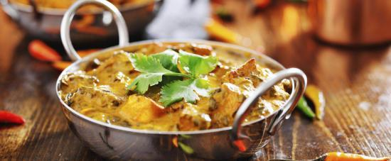 Food at Taste of India an Indian Restaurant & Takeaway in Gloucester